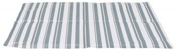 Mata chłodząca 40x50cm BIAŁO-SZARA PASKI   TX-28773