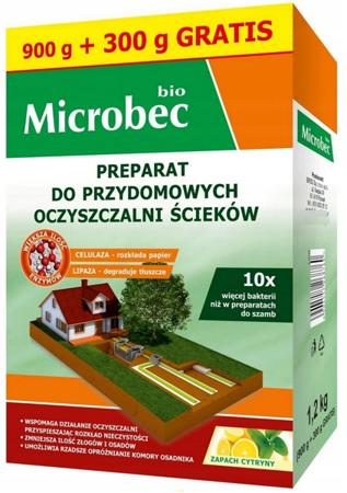 Microbec BIO aktywator do oczyszczalni  900g+300g 1200g
