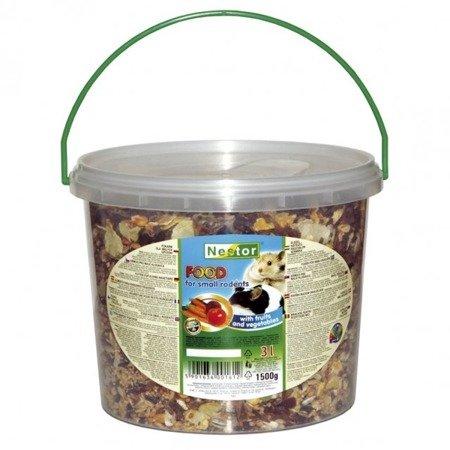 Pokarm Gryzoń Mały OWOCOWO-WARZYWNY (1,5kg) 3L