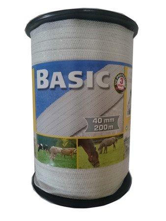 Taśma BASIC 200m 40mm biała