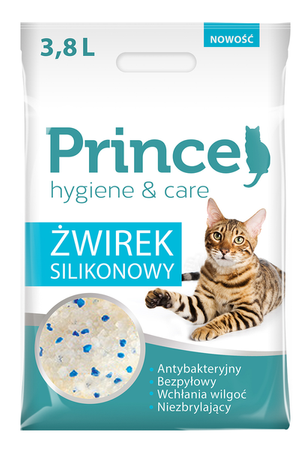 Żwirek silikonowy Prince hygiene & care 3.8L